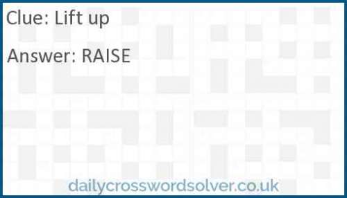 Lift up crossword answer