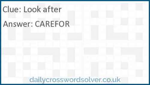 Look after crossword answer