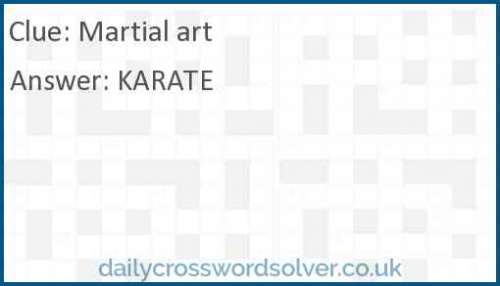 Martial art crossword answer