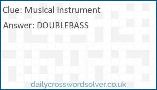 Musical instrument crossword answer