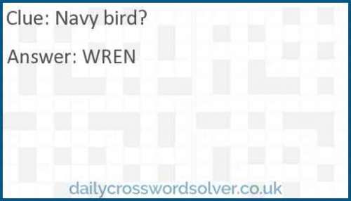 Navy bird? crossword answer