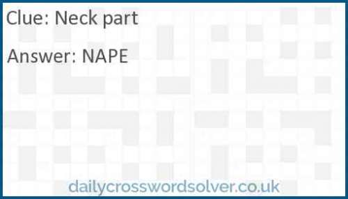 Neck part crossword answer