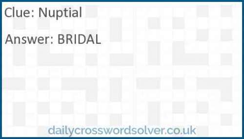 Nuptial crossword answer