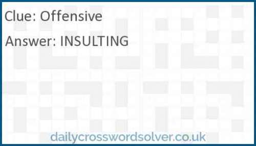 Offensive crossword answer