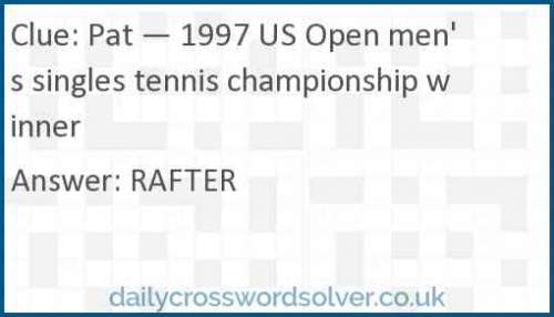 Pat — 1997 US Open men's singles tennis championship winner crossword answer