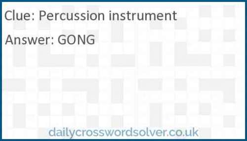 Percussion instrument crossword answer