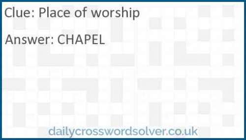Place of worship crossword answer