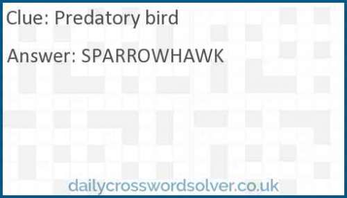 Predatory bird crossword answer