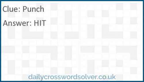 Punch crossword answer