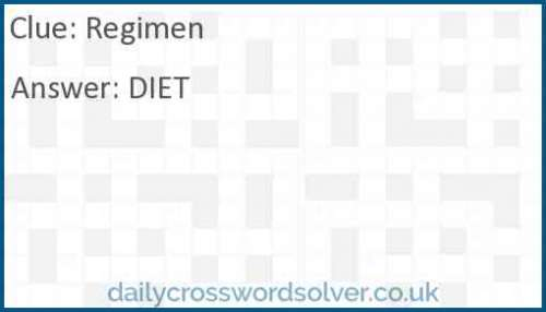 Regimen crossword answer