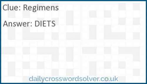 Regimens crossword answer