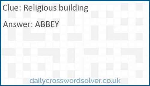 Religious building crossword answer