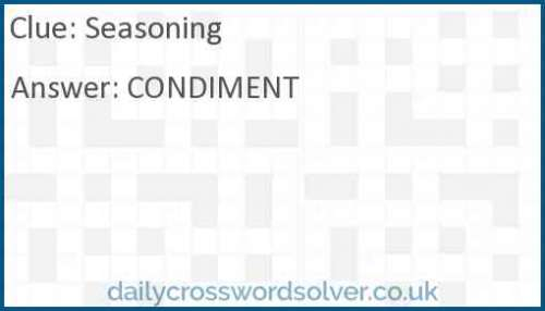 Seasoning crossword answer