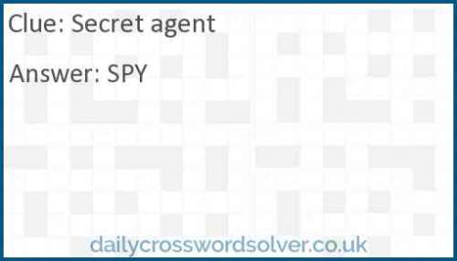 Secret agent crossword answer