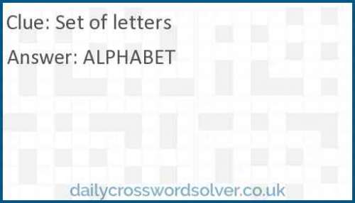 Set of letters crossword answer
