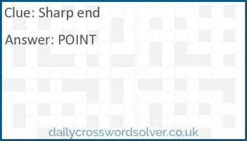 Sharp end crossword answer
