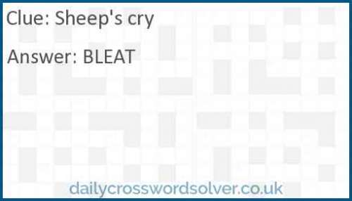 Sheep's cry crossword answer