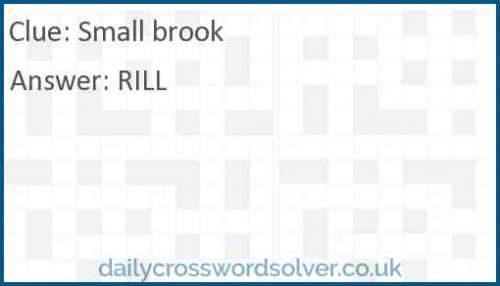 Small brook crossword answer
