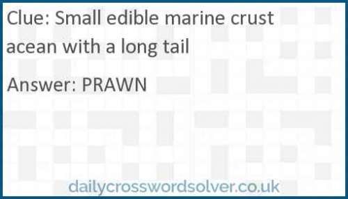 Small edible marine crustacean with a long tail crossword answer