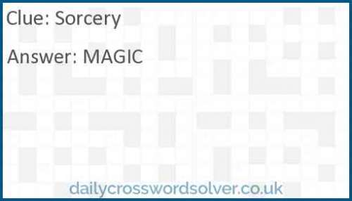 Sorcery crossword answer