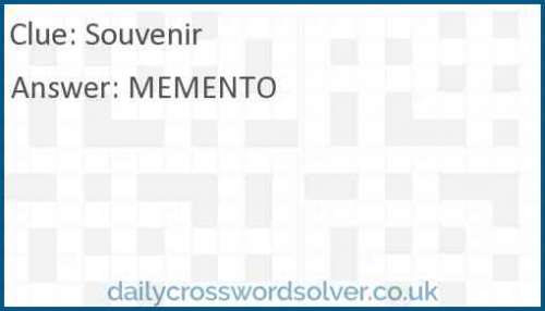 Souvenir crossword answer