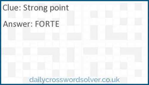 Strong point crossword answer