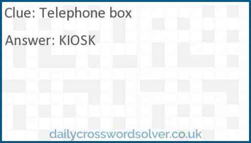 Telephone box crossword answer
