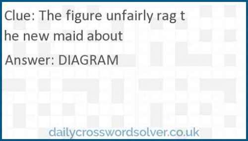 The figure unfairly rag the new maid about crossword answer