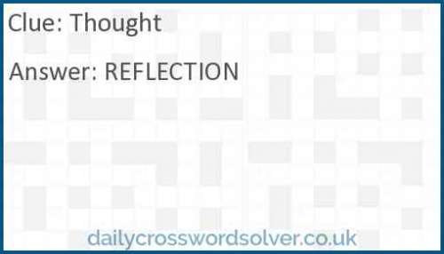 Thought crossword answer