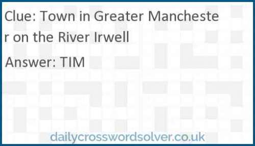 Town in Greater Manchester on the River Irwell crossword answer