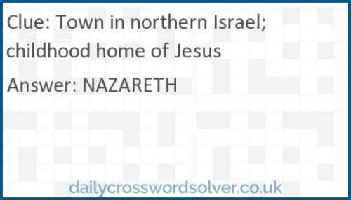 Town in northern Israel; childhood home of Jesus crossword answer