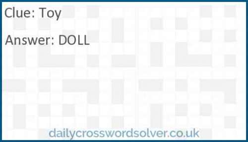 Toy crossword answer