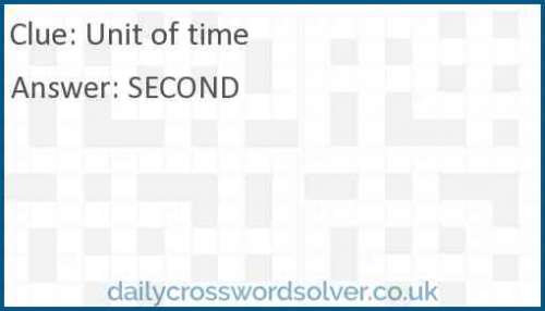 Unit of time crossword answer