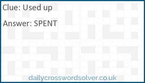 Used up crossword answer
