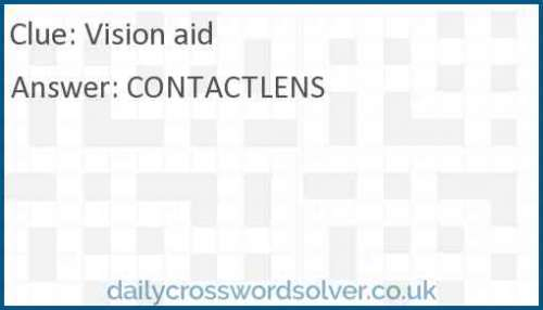 Vision aid crossword answer