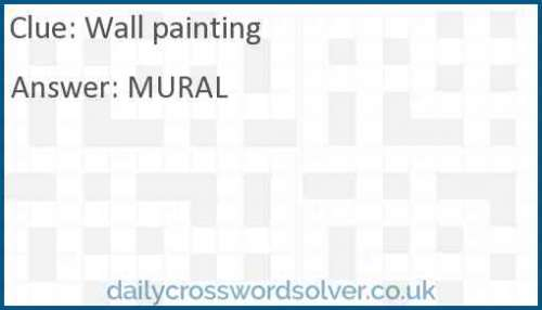 Wall painting crossword answer