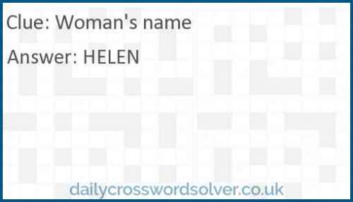 Woman's name crossword answer