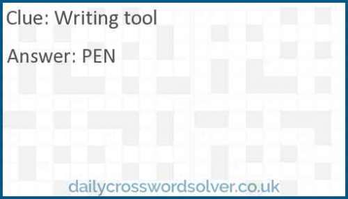 Writing tool crossword answer