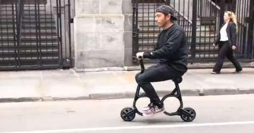 Découvrez cet incroyable vélo électrique pliable que vous pouvez glisser dans votre sac à dos