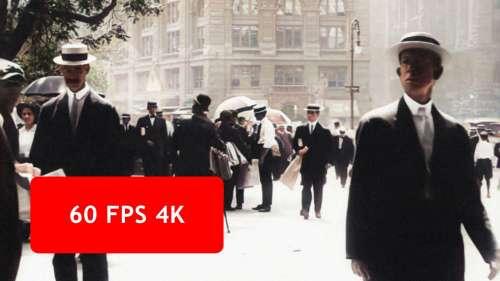 Cette vidéo de New York datant de 1911 a été restaurée en 4K à 60 images par seconde