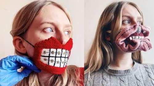 Ces masques monstrueux en laine aident définitivement à maintenir la distance sociale