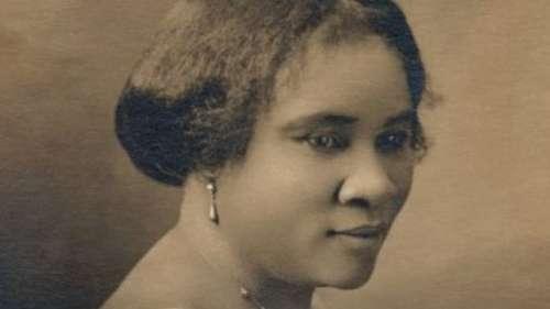 Portrait de Madam C. J. Walker, première femme noire millionnaire aux États-Unis
