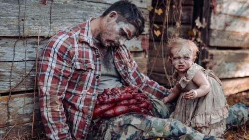 Cette talentueuse photographe transforme son bébé en zombie pour une séance photo effrayante