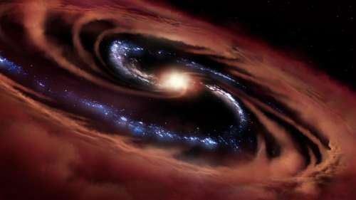 Cette galaxie est capable de résister à l'appétit vorace de son trou noir