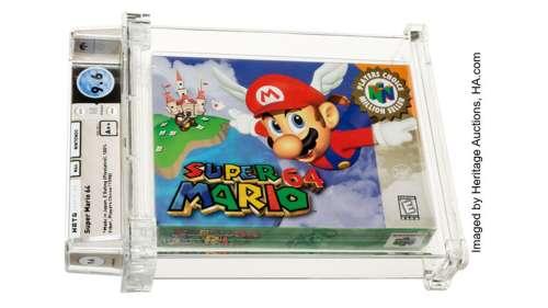 Une cartouche Super Mario 64 vendue 1,56 million de dollars aux enchères, un record