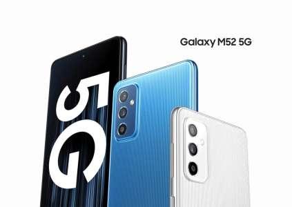 Samsung Galaxy M52 : écran AMOLED 120 Hz, batterie de 5 000 mAh et 5G