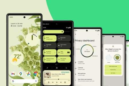 Android 12 est disponible sur les smartphones Pixel
