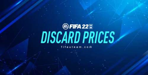 FIFA 22 Quick Sell Prices – Discard Prices for FUT 22