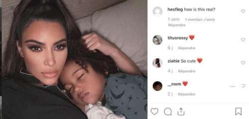 Kim Kardashian poste une adorable photo pour les 4 ans de Saint