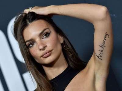 Emily Ratajkowski insulte Harvey Weinstein en se tatouant